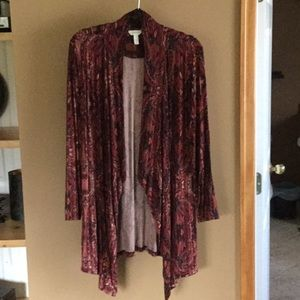 NWOT French Terry Wrap/Cardigan from Soma ~ Large